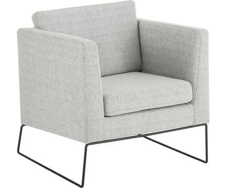 Klassischer Sessel Milo in Grau