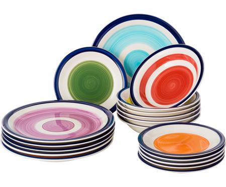 Servizio piatti in porcellana Sardinia, set di 18