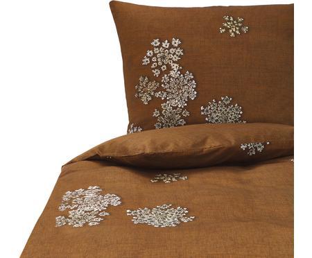 Baumwollsatin-Bettwäsche Lauren mit Blüten-Muster