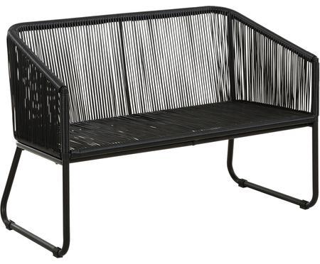 Garten-Sitzbank Moa mit Kunststoff-Geflecht