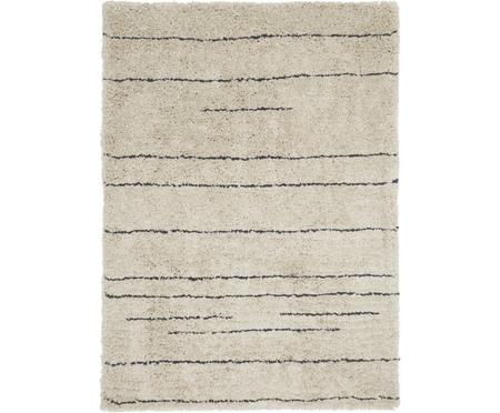 Flauschiger Hochflor-Teppich Dunya, handgetuftet
