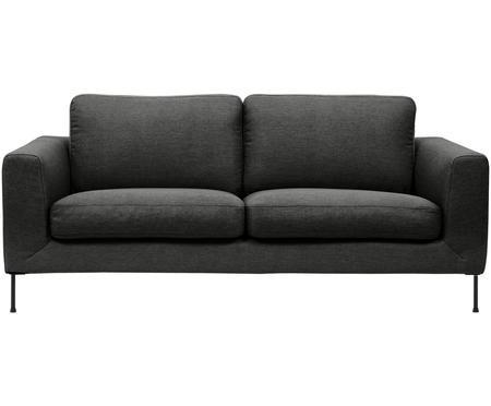 Sofa Cucita (2-Sitzer) in Anthrazit mit Metall-Füßen