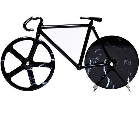 Schwarzer Pizzaschneider Velo im Fahrraddesign aus Edelstahl