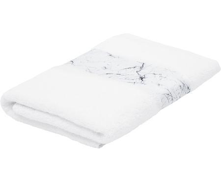Handtuch Malin mit Bordüre in Marmor-Optik
