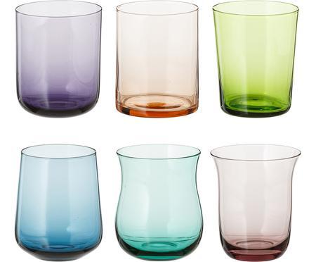 Mundgeblasene Wassergläser Desigual in unterschiedlichen Formen, 6er-Set