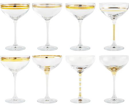 Set di 8 coppe da champagne Deco