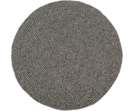 Runder Wollteppich Dot, handgenäht