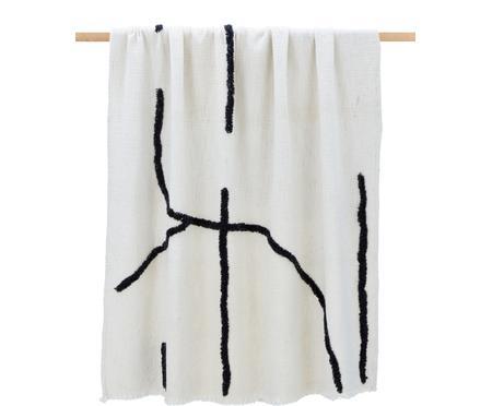 Boho-Decke Lina mit getufteter Verzierung