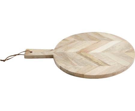 Mangoholz-Schneidebrett Herringbone, Ø 32 cm