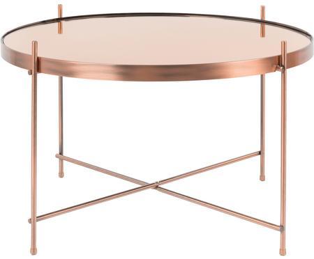 Tavolino da salotto con piano in vetro Cupid