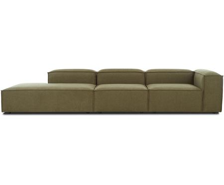Grand canapé méridienne vert modulable Lennon