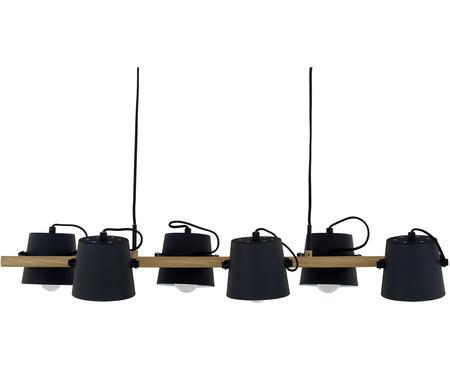 Suspension bois et métal noir, grande taille Espresso