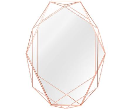Miroir mural ovale avec cadre cuivré Prisma