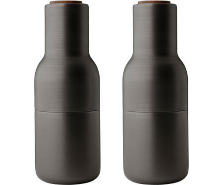 Moulin à épices design, anthracite, avec bouchon en noyer Bottle Grinder