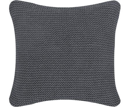 Housse de coussin en tricot gris foncé Adalyn
