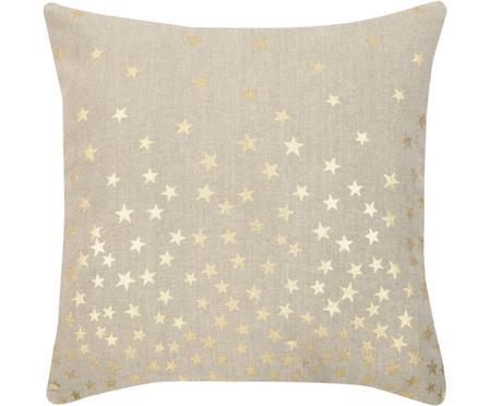 Kissenhülle Kiley mit goldenen Sternen