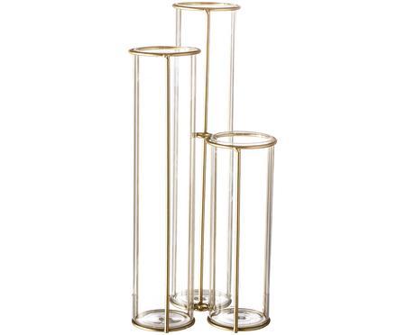 Vaso con struttura in metallo Gerbera