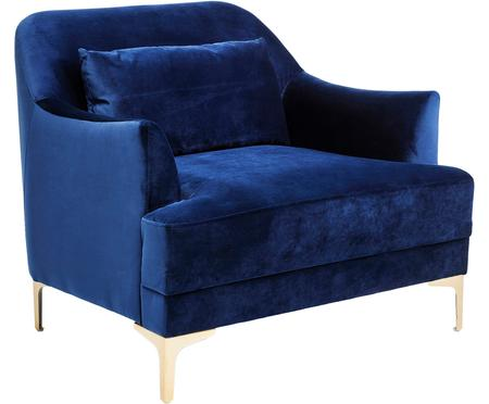 Fluwelen fauteuil Proud