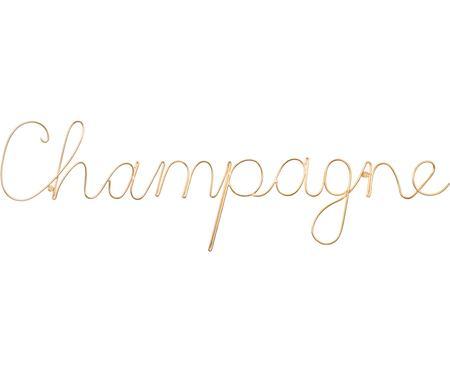 Wandobject Champagne van aluminium