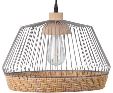 Hanglamp Birdy uit rotan en metaal
