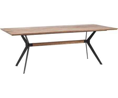 Table en bois massif et pieds en métal Downtown