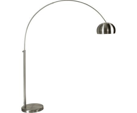 Große Bogenlampe Metal Bow in Silber