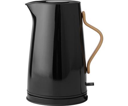Wasserkocher Emma in Schwarz glänzend