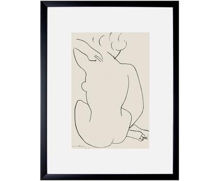 Impression numérique encadrée Matisse: Nu Accroupi