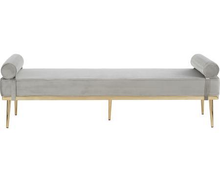 Chaise longue letto singolo in velluto grigio Aurora