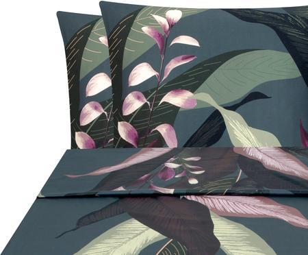 Set lenzuola in raso di cotone Flora 2 pz