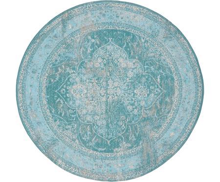 Alfombra redonda de chenilla Palermo, estilo vintage