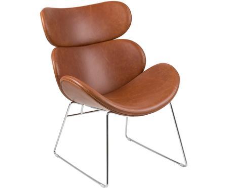 Fauteuil lounge moderne, en cuir synthétique Cazar