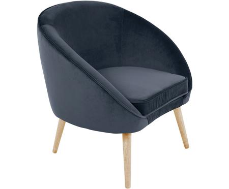 Fotel koktajlowy z aksamitu Safir