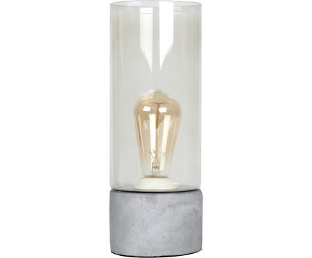 Lampada da tavolo Lax in cemento e vetro