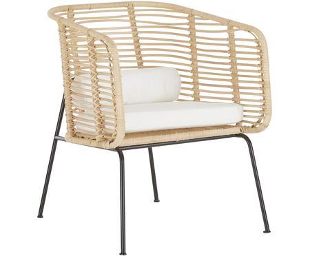 Krzesło z rattanu z podłokietnikami Merete