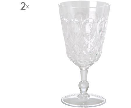 Bicchiere da vino in acrilico Swirly 2 pz