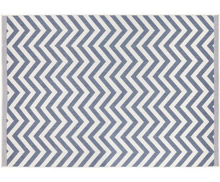 Oboustranný vnitřní a venkovní oboustranný koberec s klikatým vzorem Palma