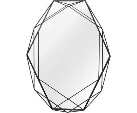 Specchio da parete con cornice in metallo Prisma