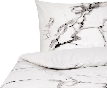 Baumwollperkal-Bettwäsche Malin mit Marmor-Muster