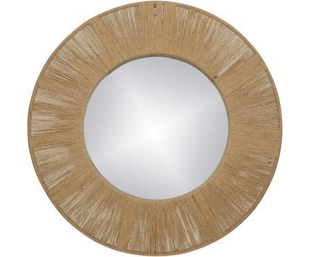 Runder Wandspiegel Finesse mit Rahmen aus Naturfasern