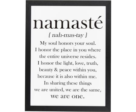 Gerahmter Digitaldruck Namasté