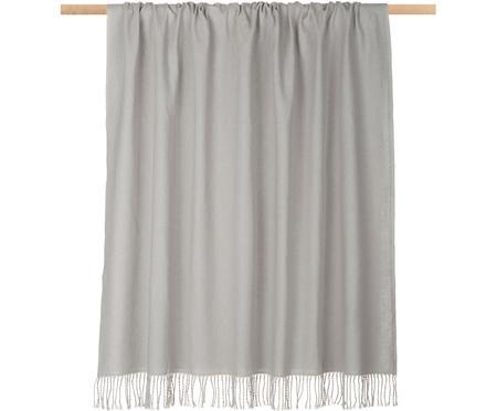 Plaid grigio chiaro con frange Madison