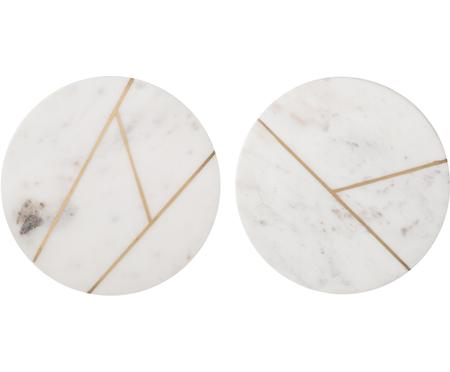 Marmorplatten-Set Marble Ø 18 cm, 2er-Set