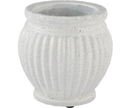 Handgefertigter Übertopf Catinia aus Keramik