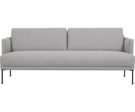 Sofa Fluente (3-Sitzer) in Hellgrau mit Metall-Füßen