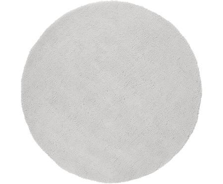 Flauschiger runder Hochflor-Teppich Leighton in Hellgrau
