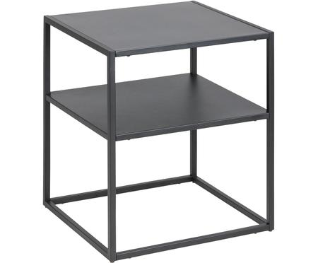 Stolik pomocniczy czarny z metalu Newton