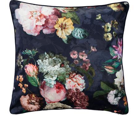 Coussin en velours imprimé fleurs Fleur