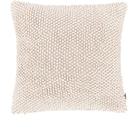 Kissenhülle Indi mit strukturierter Oberfläche in Cremeweiß