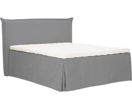 Premium Boxspringbett Violet in Grau